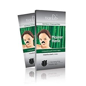 Очищающие полоски для носа TianDe Очищающий пластырь «Бамбуковый уголь» Master Herb фото