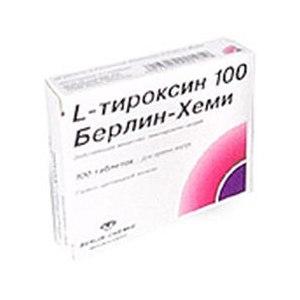 Гормональные препараты BERLIN-CHEMIE L -ТИРОКСИН фото