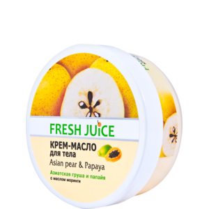 """Крем-масло для тела Fresh Juice """" Азиатская груша и папайя """" с маслом моринги фото"""