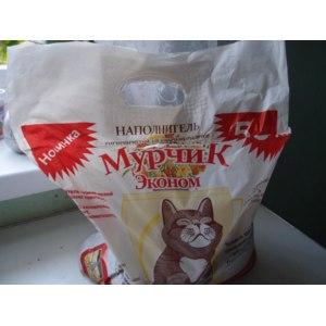 Наполнитель для кошачьего туалета Мурчик Эконом фото