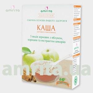 Каши быстрого приготовления Amrita Каша 5 видов зерновых с яблоком, корицей и экстрактом цикория фото