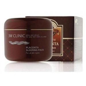 Ночная маска для лица 3W CLINIC C ЭКСТРАКТОМ ПЛАЦЕНТЫ Placenta Sleeping Pack for oll skin types фото