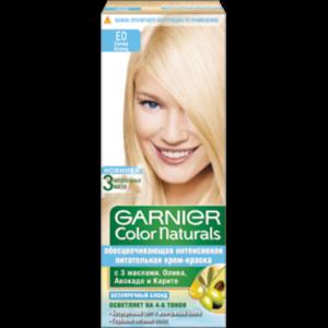 Обесцвечивающая интенсивная крем-краска для волос Garnier Color Naturals супер блонд (Е0) фото