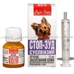 Лечение заболеваний кожи Апи-Сан Стоп-зуд суспензия фото