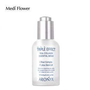 Сыворотка для лица Medi Flower С морским коллагеном Тройной эффект Aronyx Triple effect Serum фото