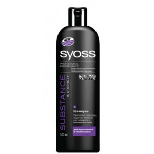 Шампунь SYOSS Substance&Strength Pro-cellum keratin для нормальных и тонких волос фото