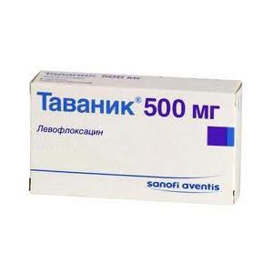 Антибиотик Sanofi aventis Таваник фото