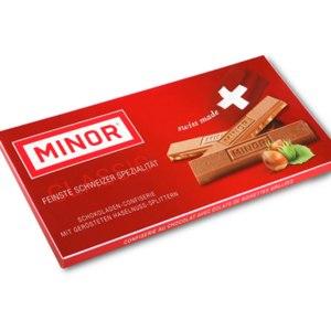Шоколад Minor Молочный с кусочками фундука фото