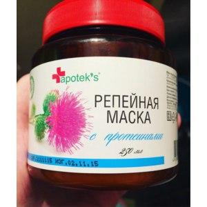 Маска для волос Apotek`s Репейная с протеинами фото