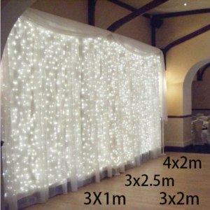 Гирлянда Aliexpress 3x1/3x2/4x2m led icicle led curtain fairy string light fairy light 300 led Christmas light for Wedding home garden party decor фото