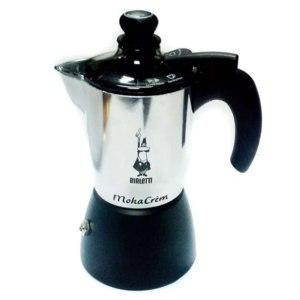 Гейзерная кофеварка Bialetti Moka Crem со встроенным вспенивателем фото