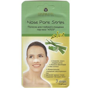 """Очищающие полоски для носа Skinlite """"Nose Pore Strips"""" с экстрактом алоэ фото"""