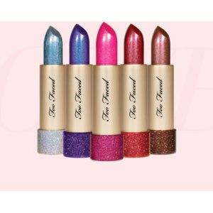 Помада Too Faced Metallic sparkle lipstick фото