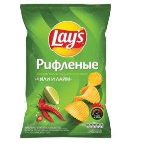 Чипсы картофельные Lay's Чили и лайм фото