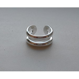Кольцо Aliexpress Two-wire ring - opening 925 silver ring фото