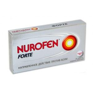 Обезболивающее средство  Нурофен Форте фото