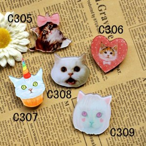 Брошь Aliexpress Arylic Dream Cat Stereo Brooches Animal Lovely Cat Brooch for Women CC Pin Up Bags Scarf  Best Christmas Gift for Girl Friend  фото