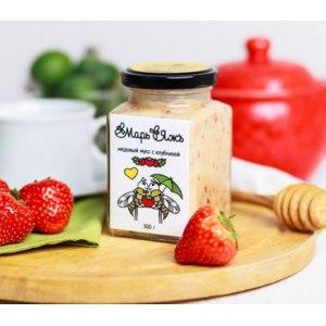 Мёд Мусихин Медовый мусс с клубникой фото