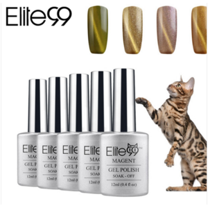 Гель-лак для ногтей Aliexpress Elite99 UV LED Gel Lacquer Varnish 3D Cat Eyes Gel Nail Polish Need Magnet Gel UV Gel Polish Cat Eyes Nail Art polish Pick 1pcs фото