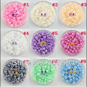 Бисер AliExpress Free shipping 5000pcs/lot mixed color Cream beads made for jewelry Czech Glass Seed on Crystal DIY bead 2MM B23 фото
