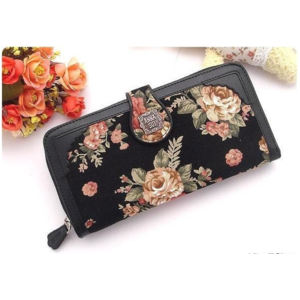 Кошелек Aliexpress  New Style Roses Floral Women Purse Wallet Fashion Purse For Women фото