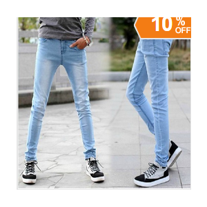 Джинсы AliExpress Free shipping 2014 summer men's jeans skinny pants pencil pants slim loose-fitting men's long pants фото
