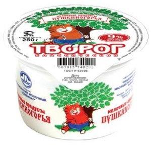 Творог Молочные продукты Пушкиногорья 9% фото