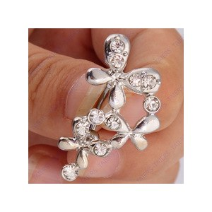 Trendy Belly Piercing Butterfly Bar Navel Belly Button Rings Body Jewelry