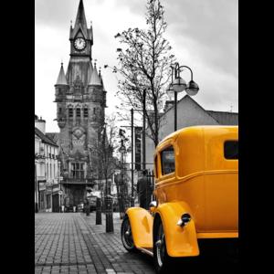 Фотопанно Желтый авто Divino Decor A1-073 (А1-007) фото