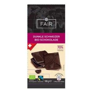 Горький шоколад Fair Dunkle Schweizer Bio- Schokolade фото