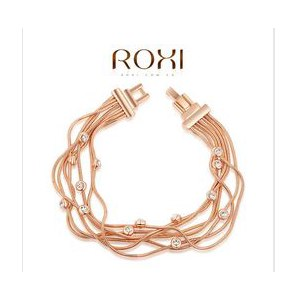 Браслет Aliexpress ROXI Exquisite Multi-wire women bracelet with Rose gold plated filled with AAA zircon fashion bracelets bangles women jewelry фото