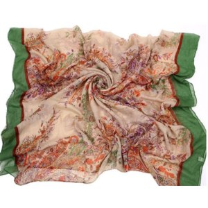 Шарф AliExpress Fashion Women Soft Shawl Long Scarf Wrap Bandanna Flower Pattern scarf фото