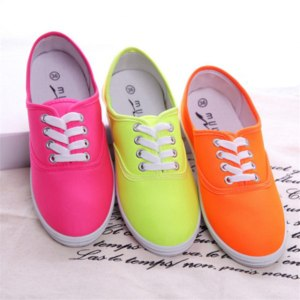 Кеды Aliexpress Lady candy color flat shoes with non-slip cow muscle casual shoes new women shoes multicolor canvas shoes Large size 35 - 42 фото