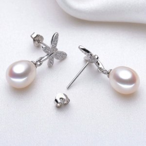 Серьги Aliexpress 100% <b>real natural pearls</b> women's earrings, white ...