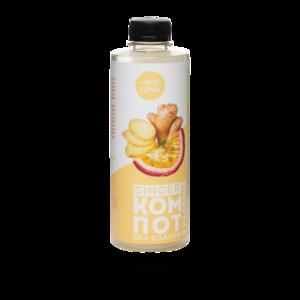 Безалкогольный напиток Bioteka «GINGER КОМПОТ» с имбирём и маракуйей фото
