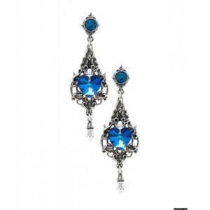 Серьги Alchemy Gothic Empress Eugenie Blue Crystal Earrings E264 фото