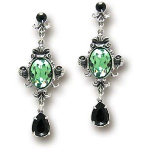 Серьги Alchemy Gothic Queen of the Night Earrings E273 фото