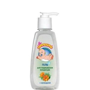 Гель для подмывания младенцев Мое солнышко с календулой фото