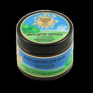 Мыло-детокс для бани Planeta Organica Лучшие рецепты мира Марокканская черная мята фото