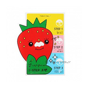 Пластыри для носа против черных точек TONY MOLY Homeless Strawberry Seeds 3-step Nose Pack фото