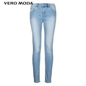 Джинсы AliExpress Vero Moda Brand 100% cotton style sashing grinding white ninth pants elastic slim fit jeans woman |315349012 фото