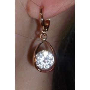 Серьги Aliexpress Drop Crystal 18K Rose Gold Plated Earring SWA ELEMENTS Austrian Crystal фото