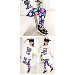Леггинсы AliExpress Free Shipping New 2016 Spring Soft Material Girls Korea Flower Cat Butterfly Animal Print Leggings Kids Leggings Long Sleeve фото