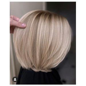Сложное (рельефное) окрашивание волос в салоне фото