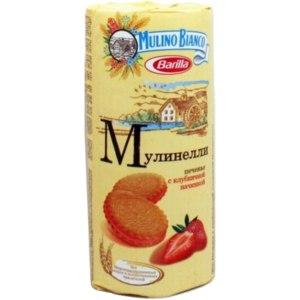 Печенье Mulinelli с клубничной начинкой  фото