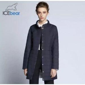 Куртка AliExpress ICEbear 2018 Single Breasted Side Pockets With Closed Zipper Autumn Jacket Women Coat Cotton Padded Slim Jacket Coat 17G298D фото
