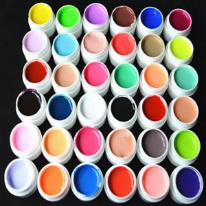 Гель-лак для ногтей Aliexpress Professional 36 Colors/set Nail Varnish Pure Colour uv gel, Uv gel Set, Builder Gel for nail art Tools фото