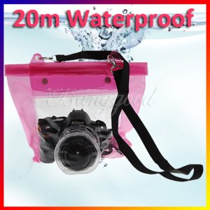 Чехол для фотоаппарата Aliexpress водонипроницаемый (Waterproof Digital DSLR Camera Case Underwater Diving Floating Pouch Housing Dry Bag For Canon Sony Nikon) фото