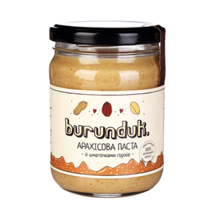 Арахисовая паста Burunduk с кусочками орехов фото