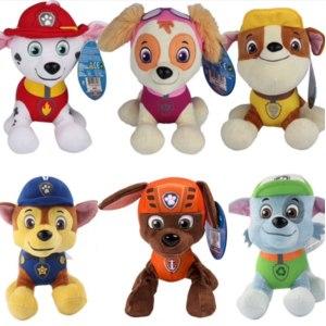 Игрушка Aliexpress 12cm Patrulla Canina toys PP Cotton Soft Dog Original Puppy Patrol Canine Plush Dolls Juguetes Canine Patrol plush animals toy фото